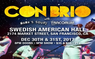 2 special end of the year shows with Con Brio! New Years Eve! Check you later 2017!!